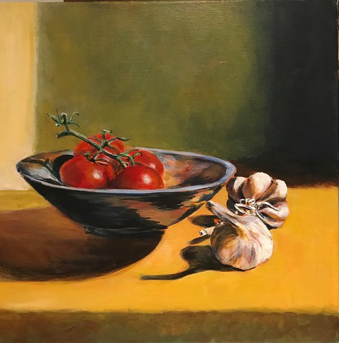 Terry Fitzgerald  Garlic with a Bowl of Tomatoes