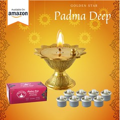 Padma Deep Lamp | Pooja Diya Lamp | Lakshmi Pooja | Golden Star
