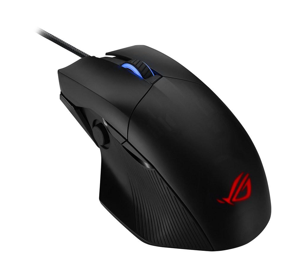 ROG Chakram Core有線光學電競滑鼠提供玩家多種個人化客製選項。 (1)