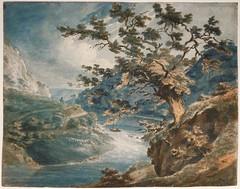 """""""Vue des gorges de l'Avon"""" de W. Turner (Musée Jacquemart-André, Paris)"""