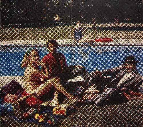 Le Déjeuner sur l'herbe, Alain Jacquet, Galerie nationale d'Art moderne et contemporain, Rome