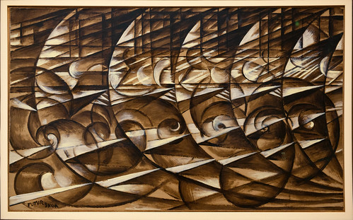 Espansione dinamica + Velocita, Giacomo Balla, Galerie nationale d'Art moderne et contemporain, Rome
