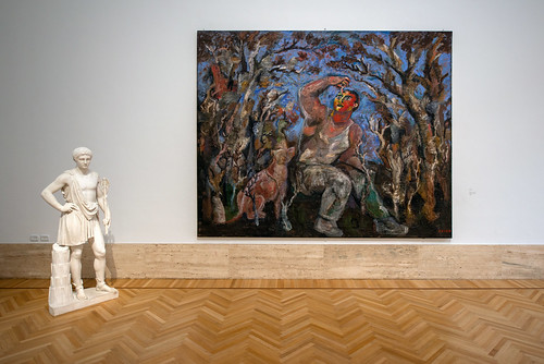 Boy and dog, Sandro Chia, Galerie nationale d'Art moderne et contemporain, Rome