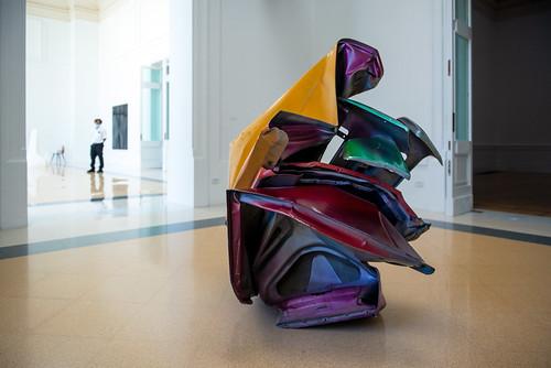 Sans titre, John Chamberlain, Galerie nationale d'Art moderne et contemporain, Rome
