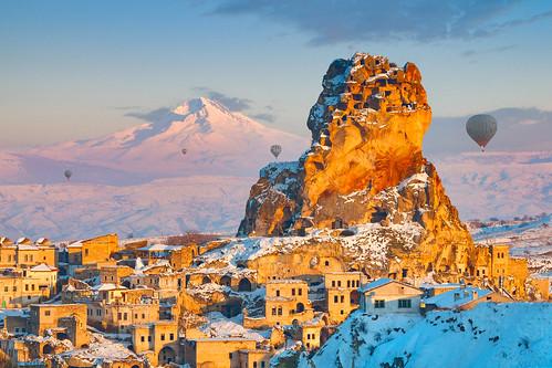 Ortahisar Kalesi, Erciyes Dağı ve Balonlar