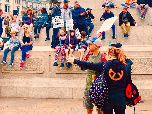 Anti-mask Protest by gerrypopplestone, on Flickr