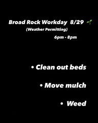 Inviting anyone that wants to come put their hands in the dirt. If anybody wants to come hang out let me know I'll bring snacks. 😬 . We are cleaning out the beds. Deciding what we are going to cover crop. And moving the rest of our mulch.
