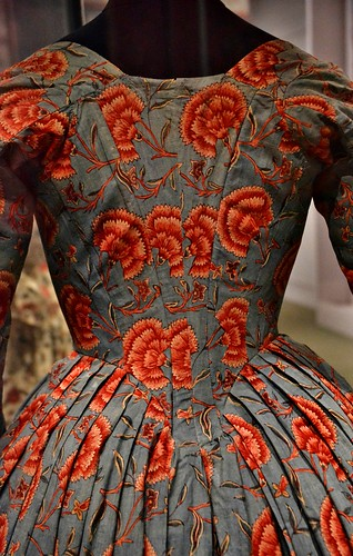 English Overdress with Carnations, Florals Desire and Design, Royal Ontario Museum, Toronto, ON