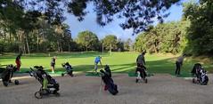 Golfeurs au Practice Fontainebleau