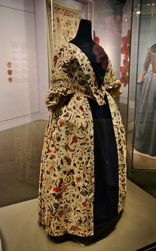 English Overdress with Branching Floral Pattern, Florals Desire and Design, Royal Ontario Museum, Toronto, ON