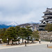 Mateumoto Castle in cloudy mountains