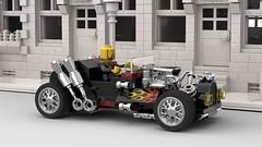 LEGO Hot Rod - Modular Scale