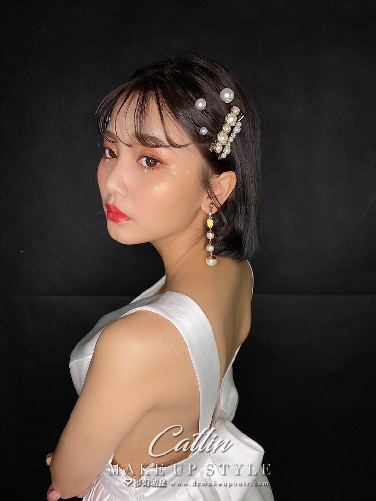 【新秘Catlin】新娘造型創作 / 短髮-珍珠美人魚