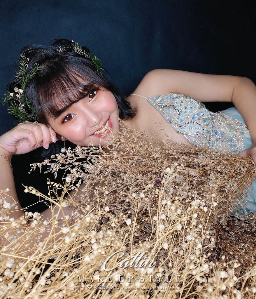 【新秘Catlin】新娘造型創作 / 短髮-仙女造型
