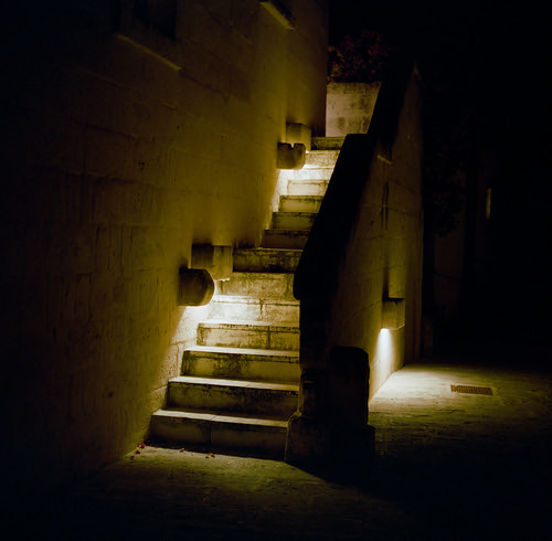 "Night Steps  (MF Pro400h) • <a style=""font-size:0.8em;"" href=""http://www.flickr.com/photos/65969414@N08/50302194913/"" target=""_blank"">View on Flickr</a>"