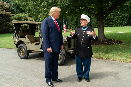 President Trump Meets with World War II by The White House, on Flickr