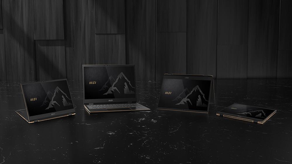 圖說4:微星公開即將問世的翻轉螢幕筆電「Summit-E13-Flip」,完美結合筆電的實用性和平板電腦的便利性