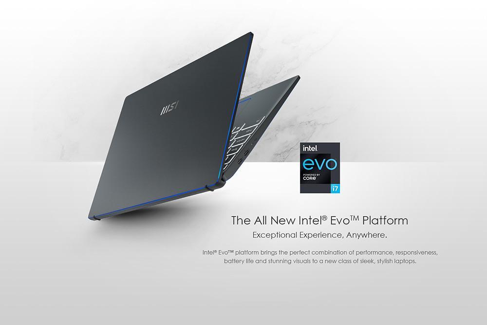 圖說5:微星「Prestige-14-Evo」為全球首批通過Intel®-Evo™認證的筆記本電腦之一,性能優於同階筆電!
