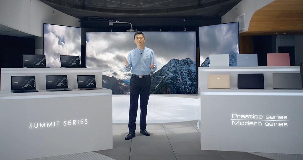 圖說1:微星筆電業務暨行銷處總監陳禮群表示微星以「登峰造極」的必勝決心,正式宣布跨足商務筆電市場