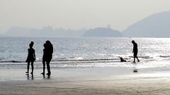 People walking by the sea • Pessoas caminhando à beira-mar • Gente caminando por el mar