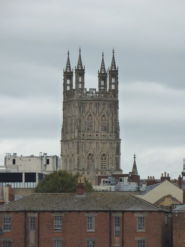 Gloucester Cathedral from Gloucester Docks