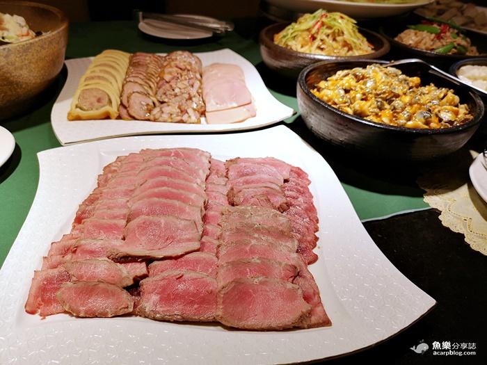 【台北大安】沾美西餐廳|午餐buffet|爐烤牛排 羊排 德國豬腳 生魚片 無限吃到飽 @魚樂分享誌