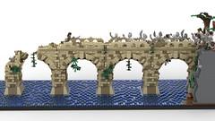 Battle on the Stone Bridge - LEGO MOC