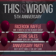 THIS IS WRONG 5th Anniversary Celebrations!