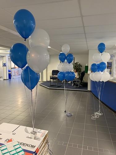 Tafeldecoratie 5ballonnen Gronddecoratie Diplomering Albeda College Zuster Hennekeplein Rotterdam Geslaagd