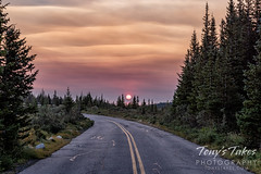September 6, 2020 - A smoky sunrise in Roosevelt National Forest. (Tony's Takes)