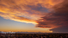 September 5, 2020 - Smoke plume from the Cameron Peak Fire at sunset. (Tony's Takes)