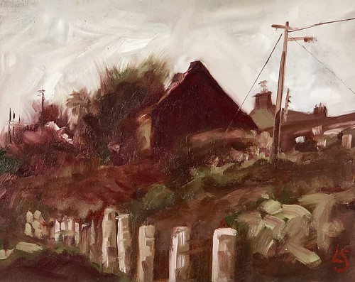 Katie's cottage, Loughshinny 10x8, oil on canvas, 250 Euro framed