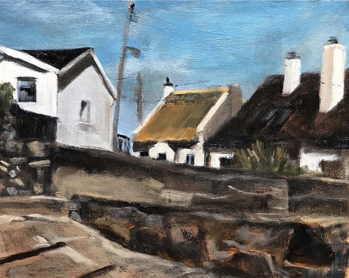 Harbour View,  10x8inches Oil on canvas framed  €250