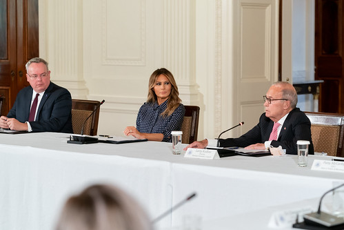 "First Lady Melania Trump at a ""Recovery by The White House, on Flickr"