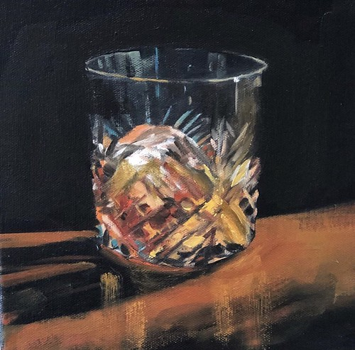 Whiskey  8x8 inches  Oil on Deep Base Canvas  €220