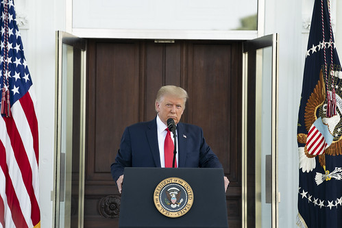 President Trump Participates in a Press by The White House, on Flickr