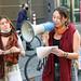 Aktivistinnen protestieren gegen den Ausbau der A49 und die Rodung des Dannenröder Forstes in Zeiten des Klimawandels