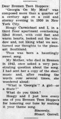 1961 - Stewart Gorrell on Georgia On My Mind 2 - Enquirer - 3 Aug 1961