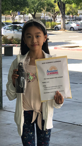 2020 Summer Learning Santa Teresa Branch Library Grand Prize Winner