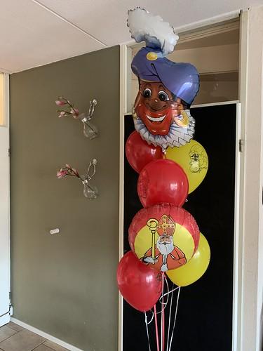 Ballonboeket Sinterklaas Zwarte Piet