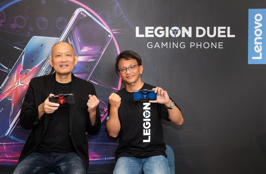 新聞照片01_Lenovo今年7月首度推出首款電競手機Legion Phone Duel,首購活動於9月15日正式開跑 (1)