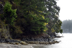 Rainstorms over Tseycum First Nations land beside Poets Cove (Pender Island, BC)  -  (Published by GETTY IMAGES)