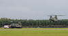 Chinook helicopter on exercise at RAF Woodvale