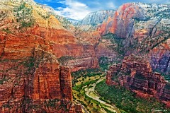 Deep Zion Canyon in Utah