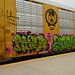 Benching Freight Graffiti at Santa Fe Depot San Bernardino 9-12-2020