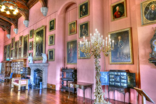 Raby Castle, County Durham, Barons Hall portraits
