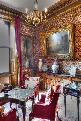 Raby Castle, County Durham, Ante library