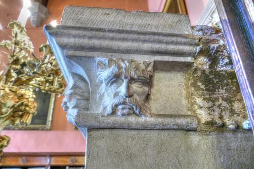 Raby Castle, County Durham,  portrait head