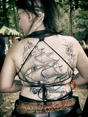back tattoo (gray-scale)