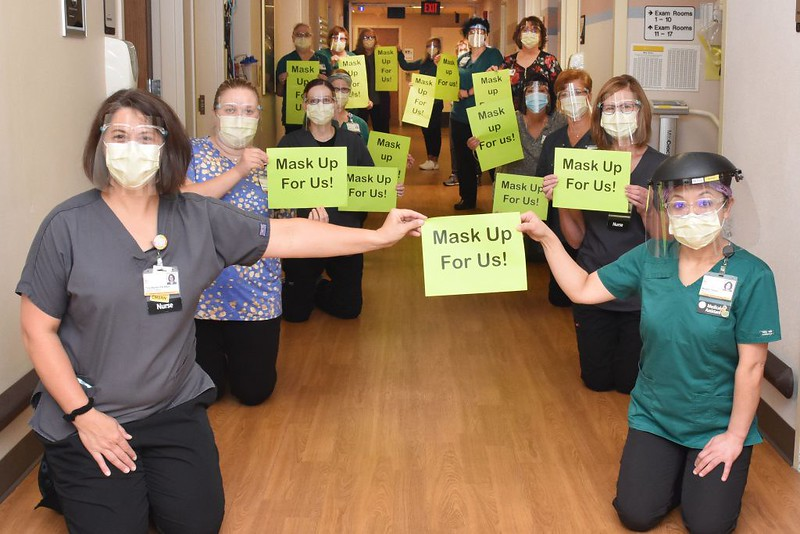 Members of the Digestive Health Clinic share their hope for others – Mask Up!